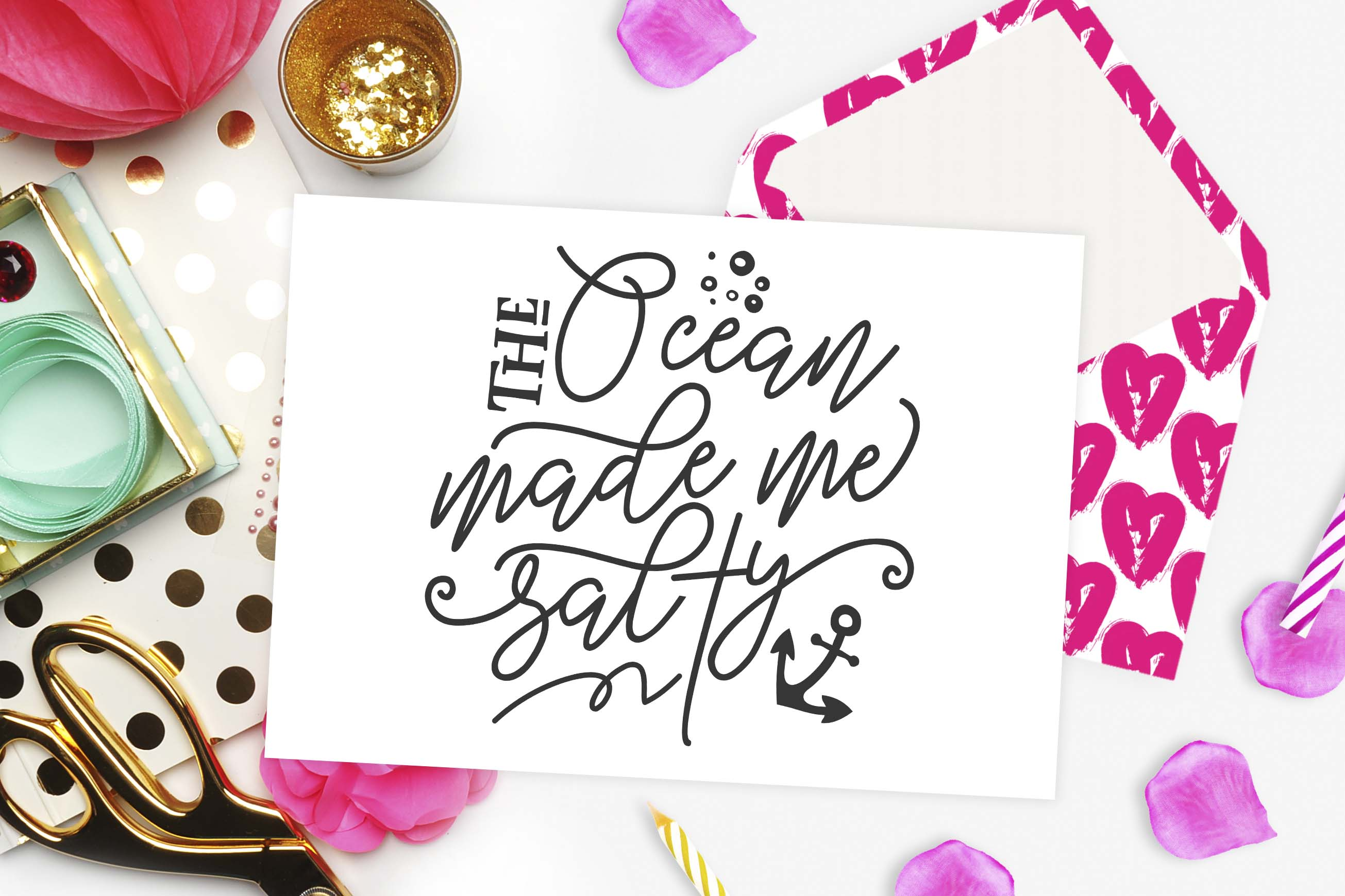 The ocean made me salty SVG DXF PNG EPS example image 2