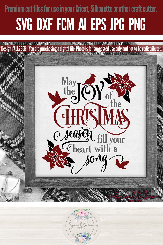 Joy of the Christmas Season with Cardinal SVG LL265B example image 3