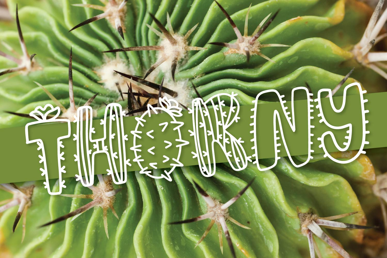 Thirsty Cactus - A Silly Cacti Font example image 3