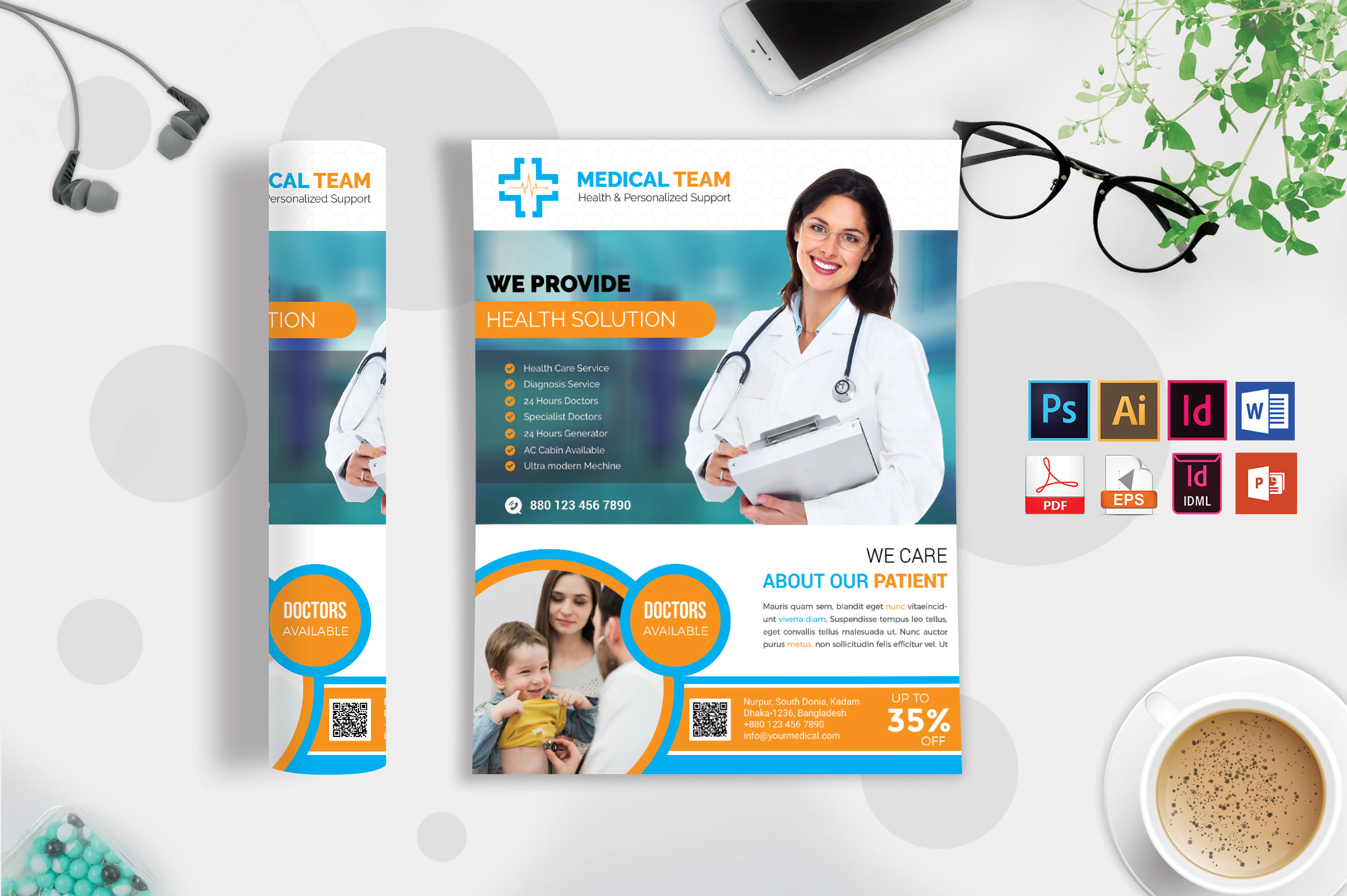Doctor & Medical Flyer. Vol-08 example image 3