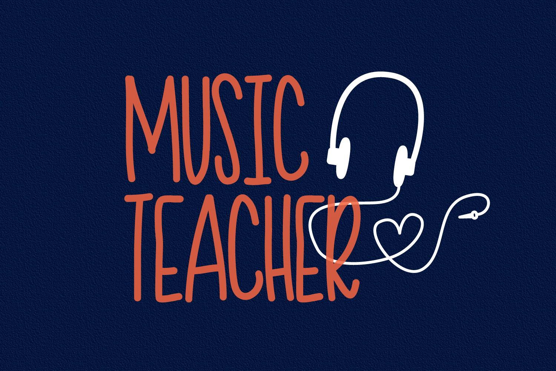 Teacher Doodles - A Dingbat Back To School Font  example image 3