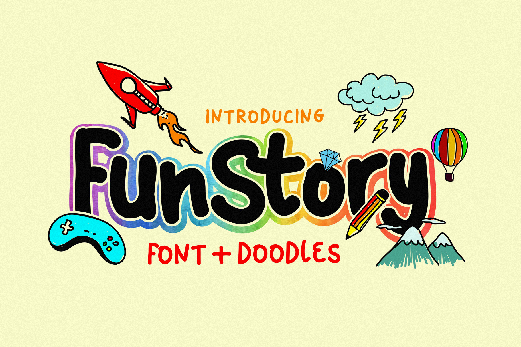Fun Story Font example image 1