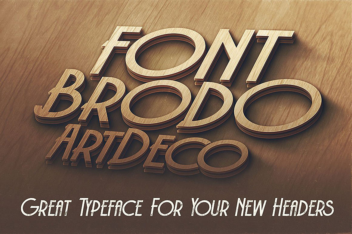 Brodo - Display Font example image 4