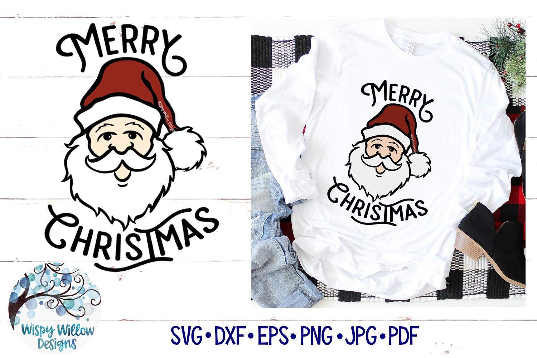 Merry Christmas Santa SVG | Retro Christmas Santa SVG File example image 1