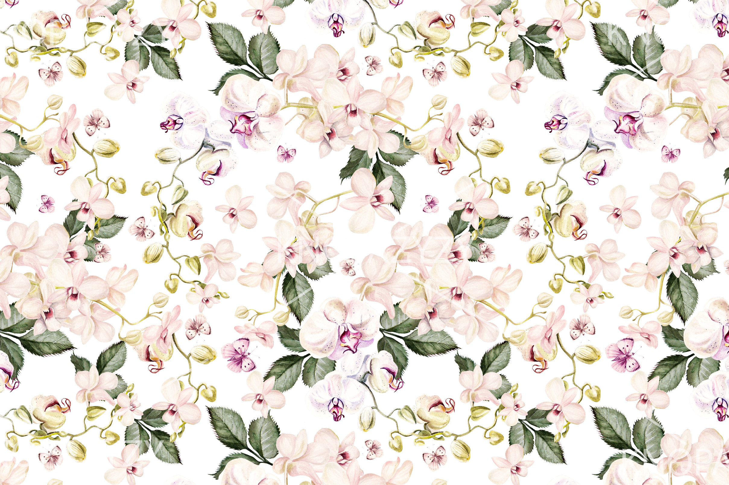 10 Hand Drawn Watercolor Pattern example image 4