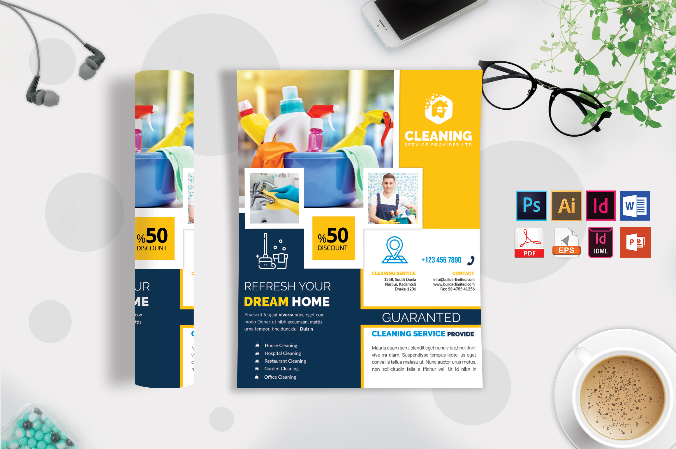 Cleaning Service Flyer Vol-08 example image 2