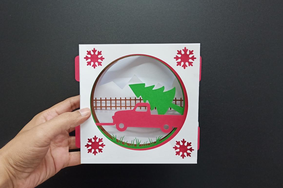 DIY Christmas Card - 3d papercraft example image 2