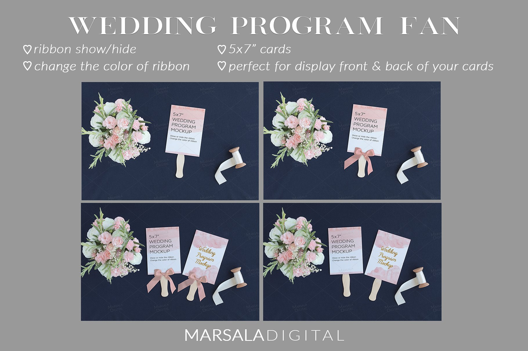 Blush and Navy Wedding Mockup Bundle example image 2