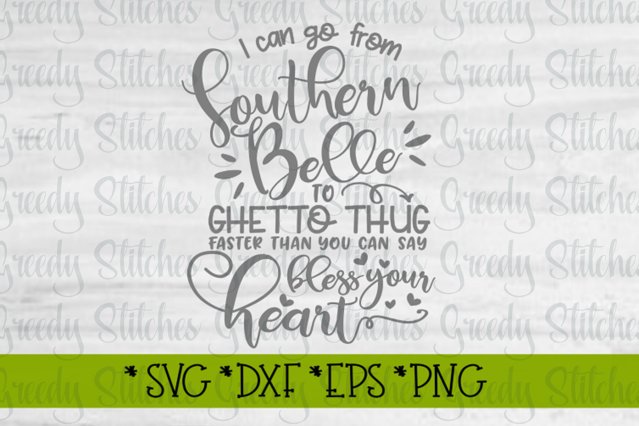 Funny Sassy Southern Belle SVG DXF EPS PNG example image 3