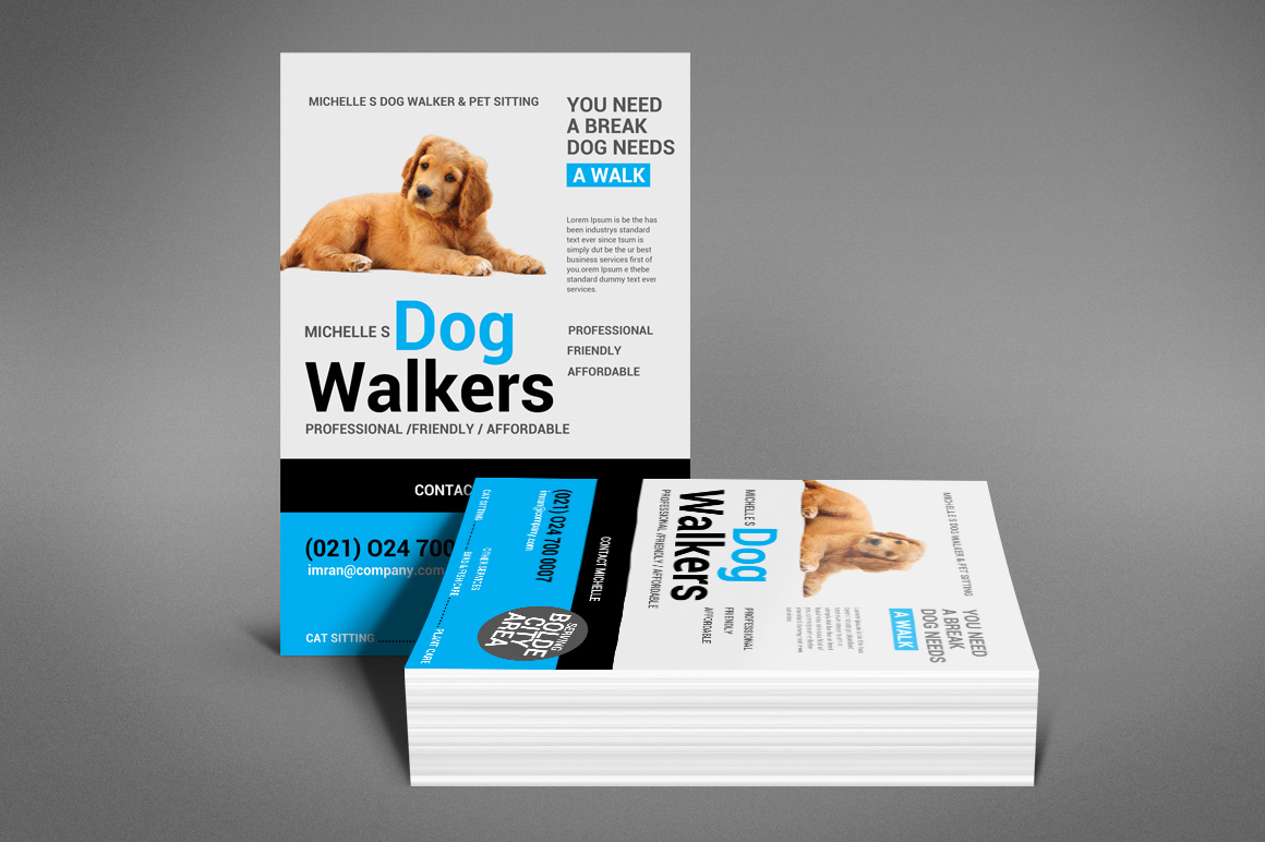 Dog Walker Flyer Template example image 4