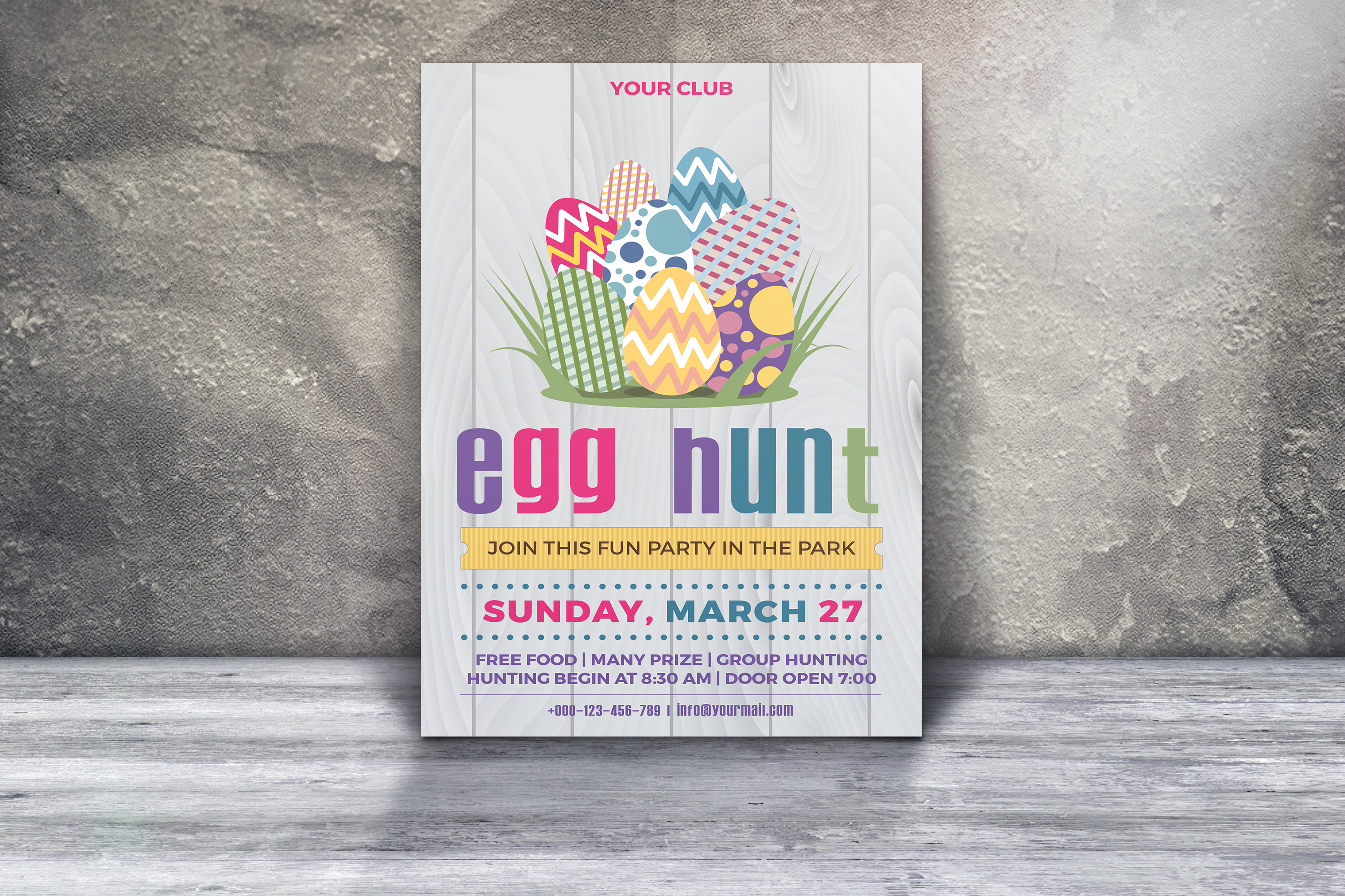 Easter Egg Hunt Party Flyer example image 3
