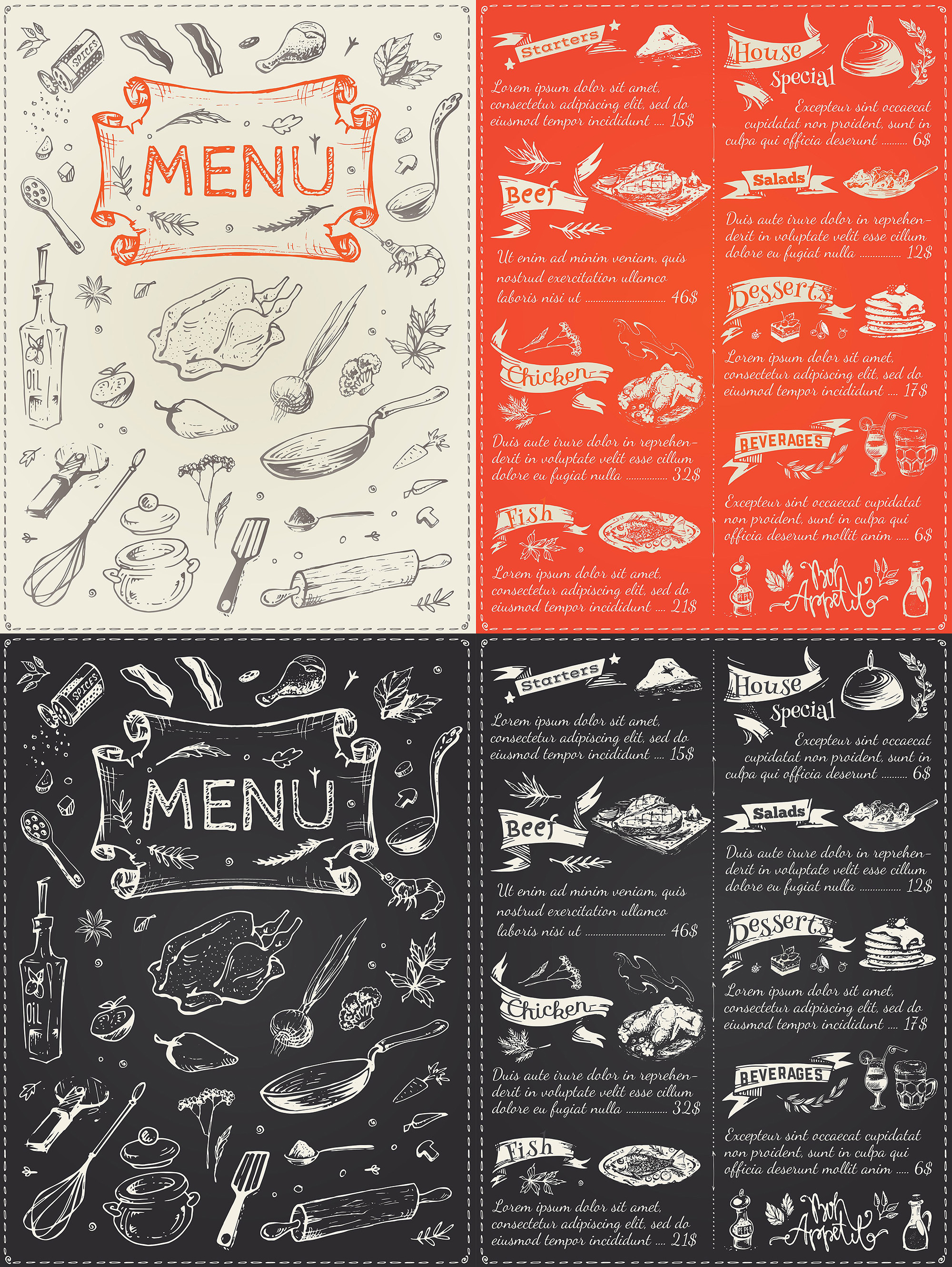 Hand drawn cooking and food icons example image 13