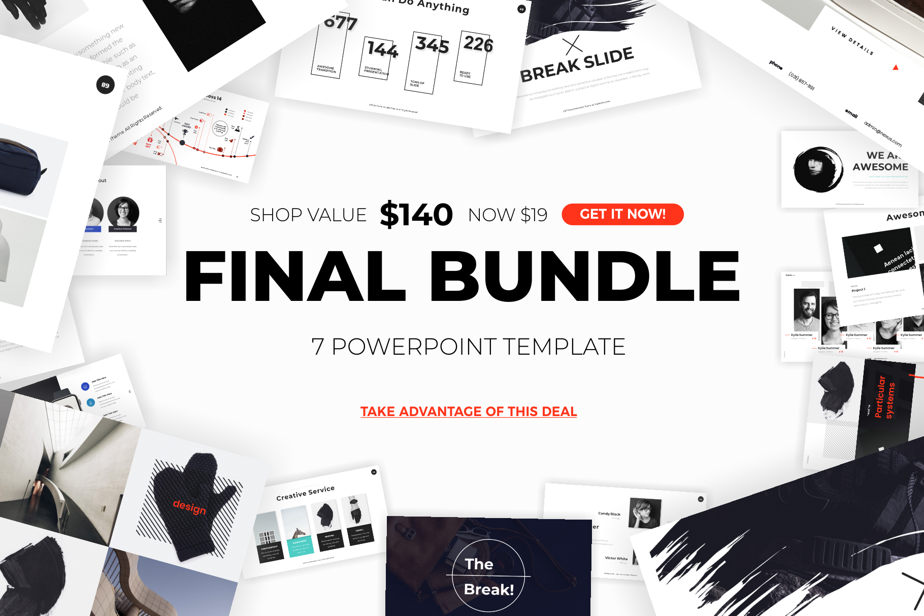 professional powerpoint template bundle example image 1