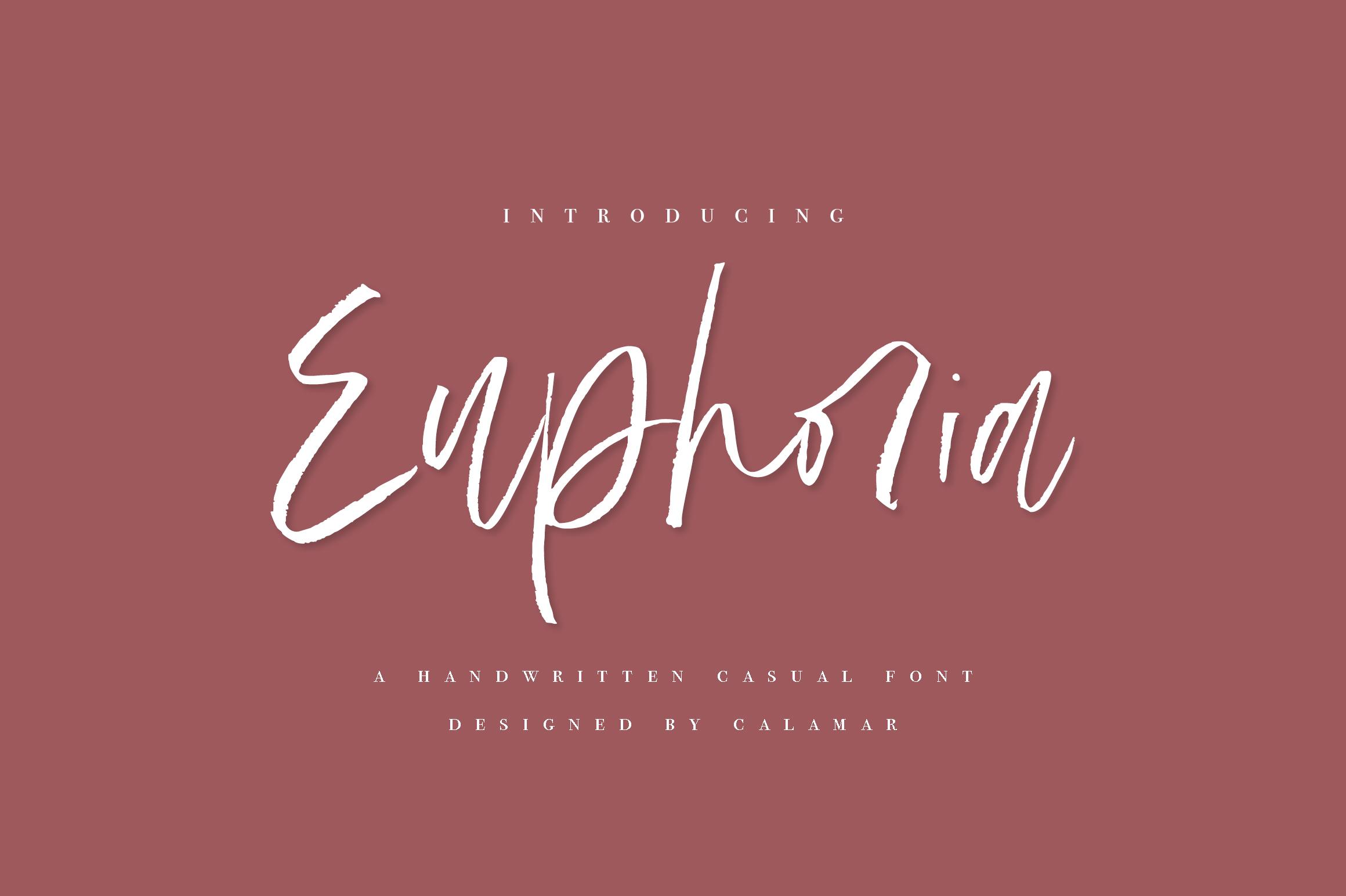 Euphoria | Handwritten Font example image 1