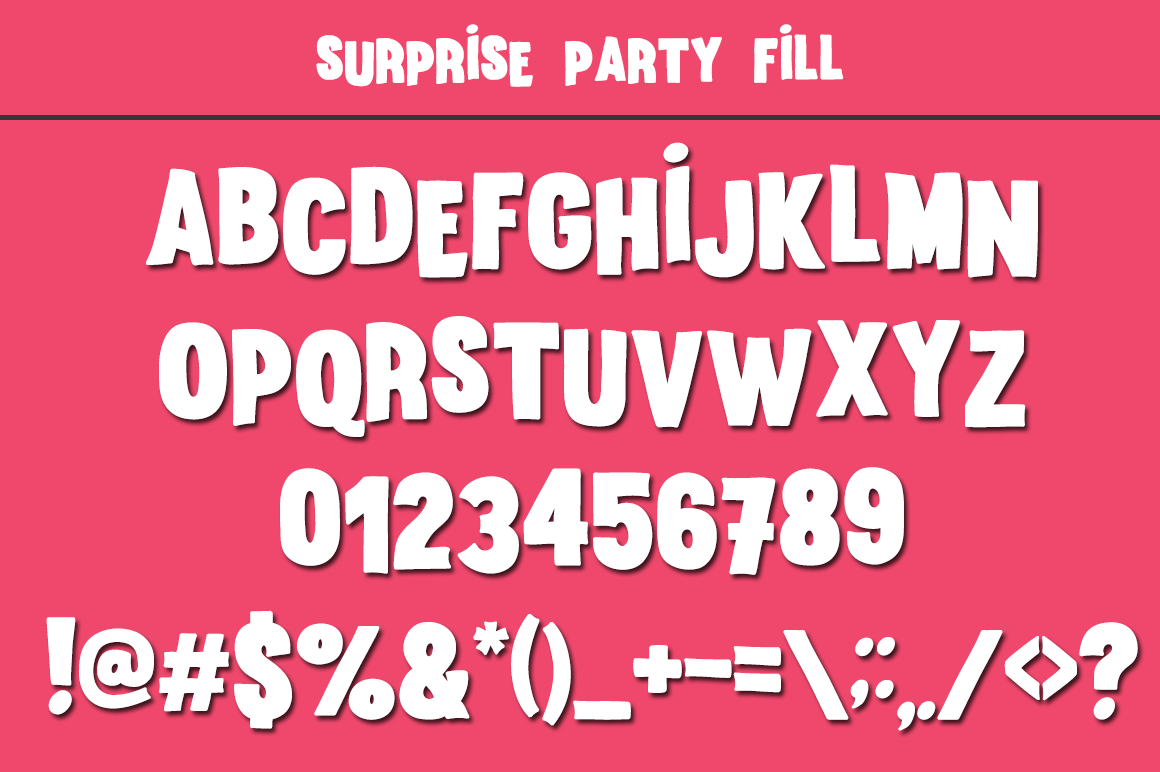 Surprise Party Font Family for Kids, Birthdays and Fun! example image 6