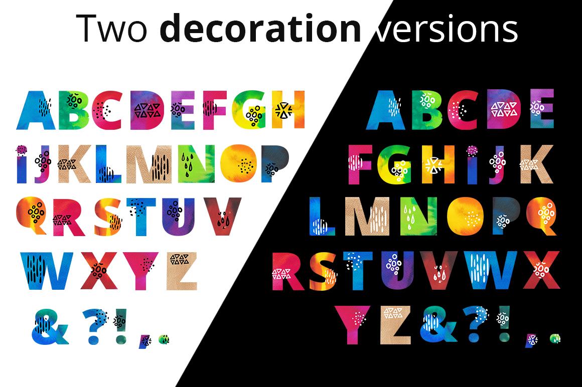 Beach party - watercolor alphabet example image 5