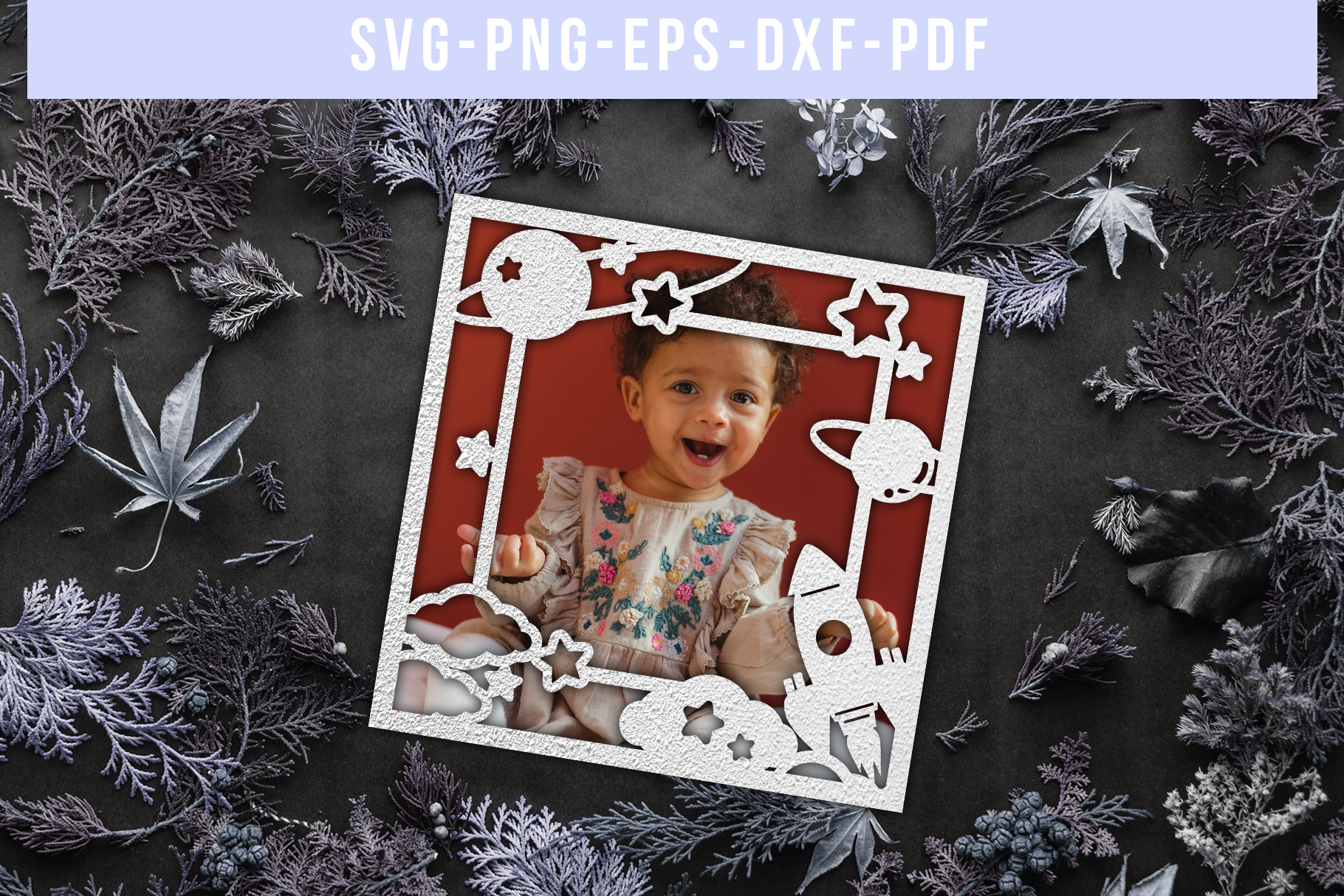 Bundle Of 9 Photo Frame Papercut Templates, SVG, DXF. PDF example image 10