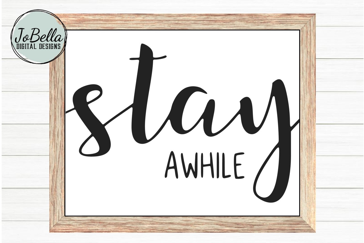 Stay Awhile SVG, Printable, & Sublimation Farmhouse Design example image 1
