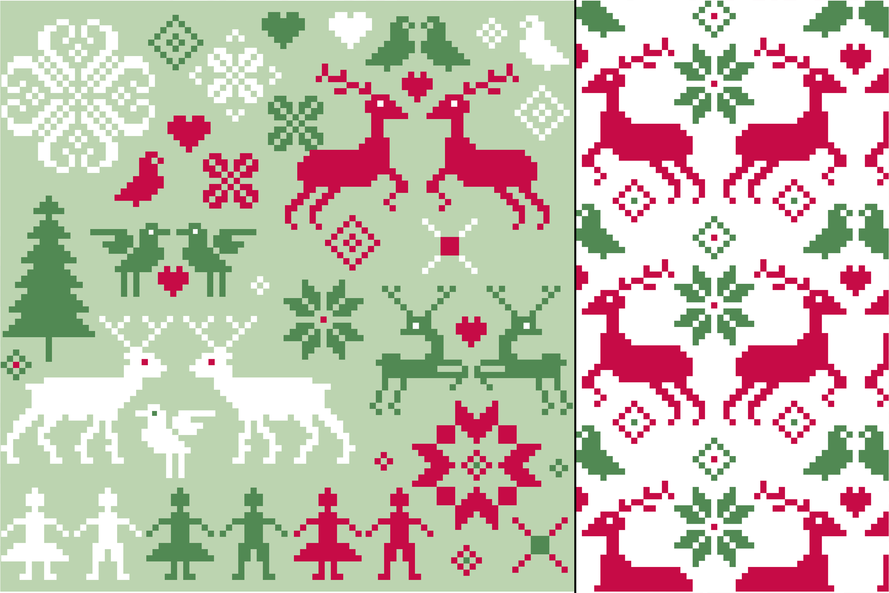 Seamless Nordic Patterns & Graphics example image 3