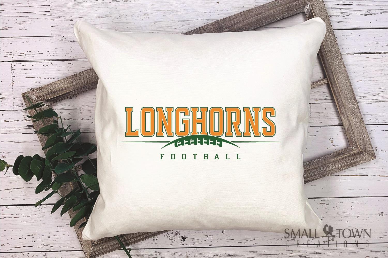 Longhorn, Football Team, Logo, Sport, PRINT, CUT & DESIGN example image 3