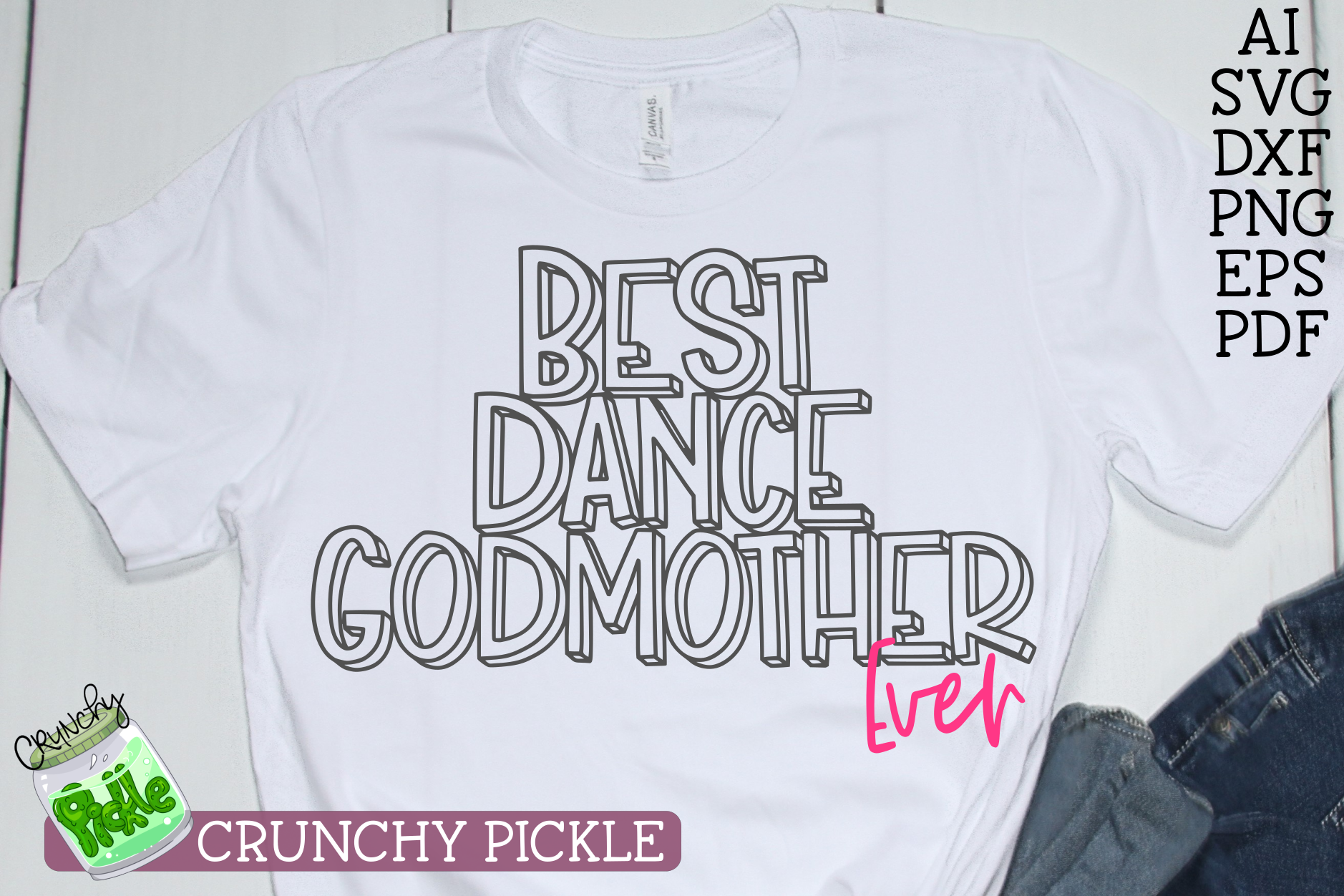 Best Dance Godmother Ever Sports SVG Cut File example image 3