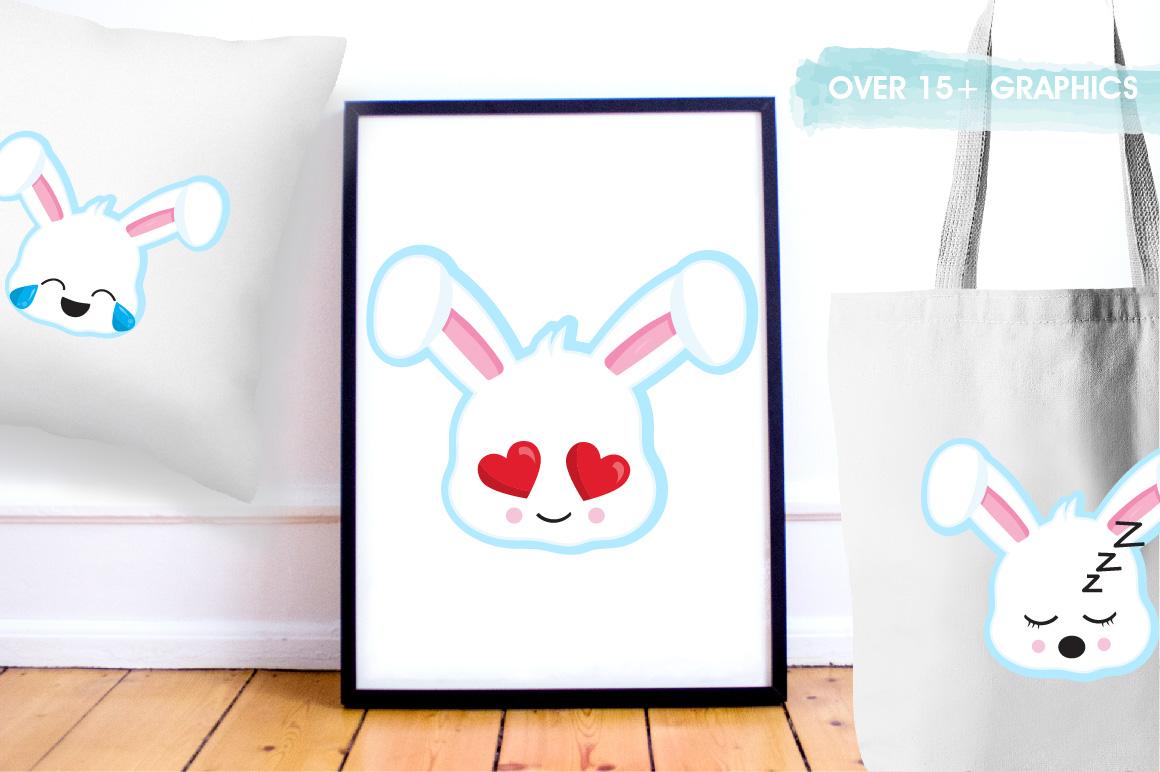 Easter Kawaii Bunnies graphics and illustrations example image 5