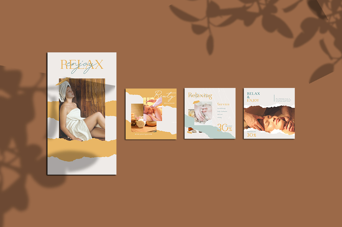 Relax Instagram Templates example image 5
