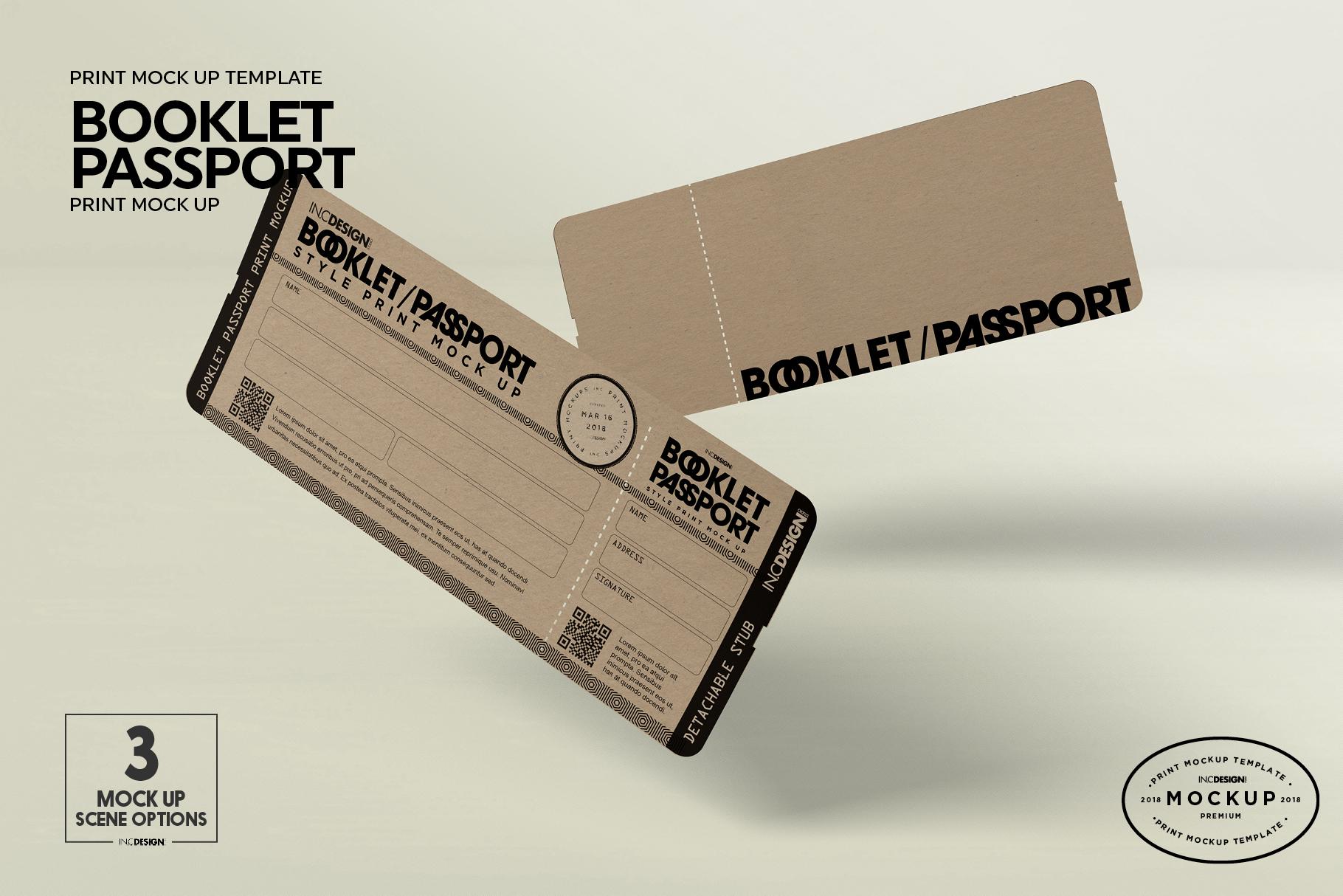 Booklet Passport Print MockUp example image 8