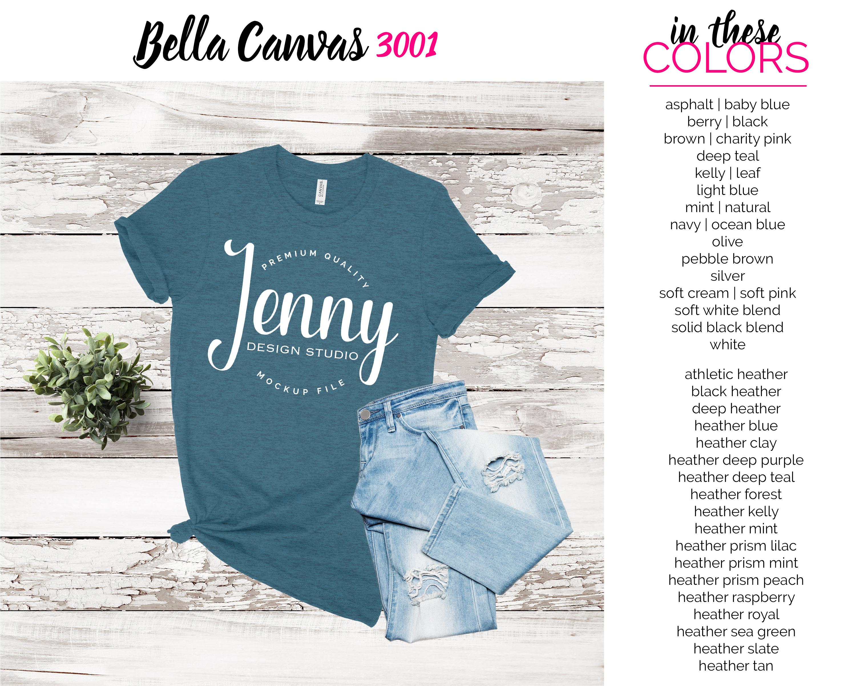 Bella Canvas 3001 Mockup Bundle, Knotted Tshirt Mockup example image 5