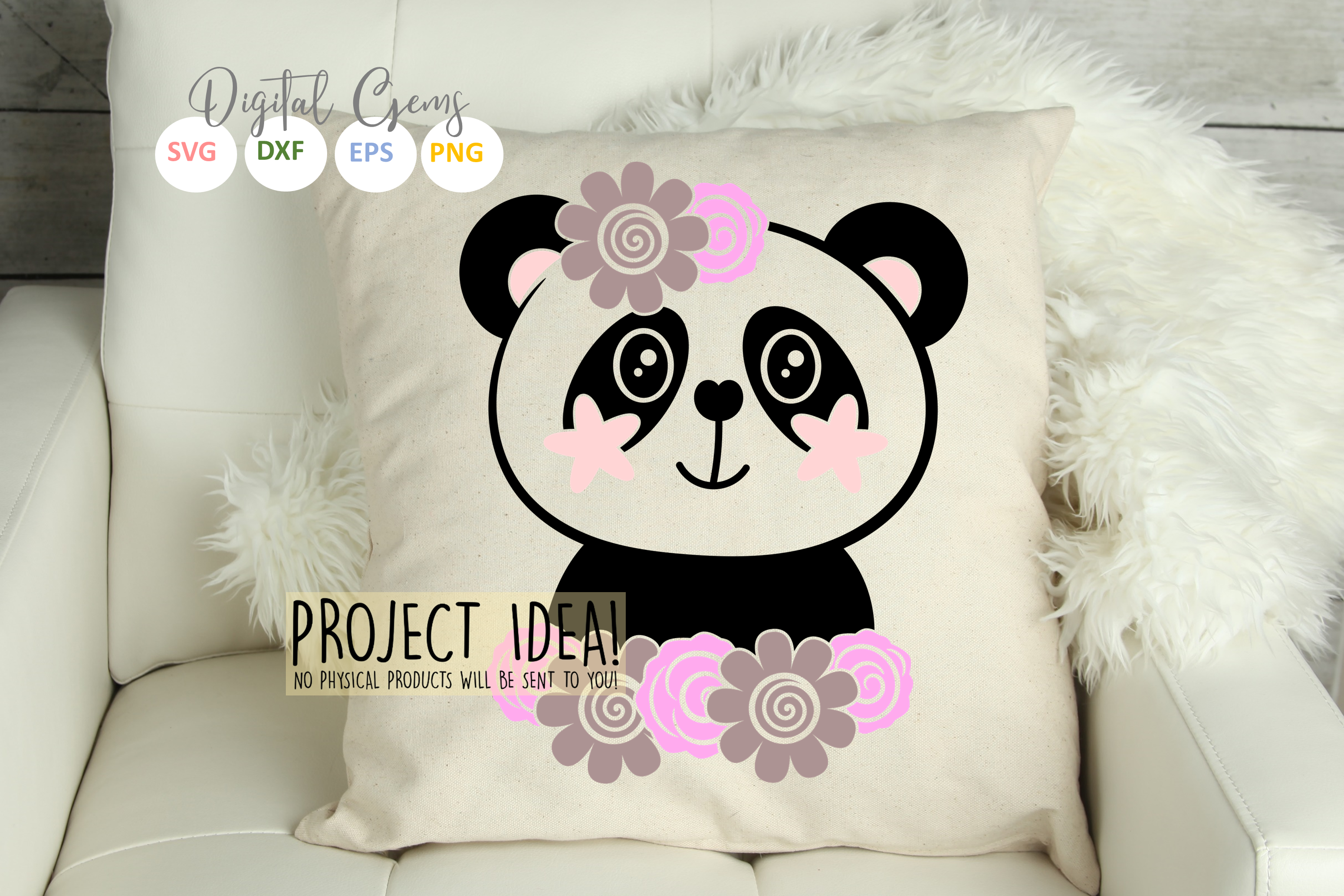 Panda designs. SVG / PNG / EPS / DXF Files example image 6