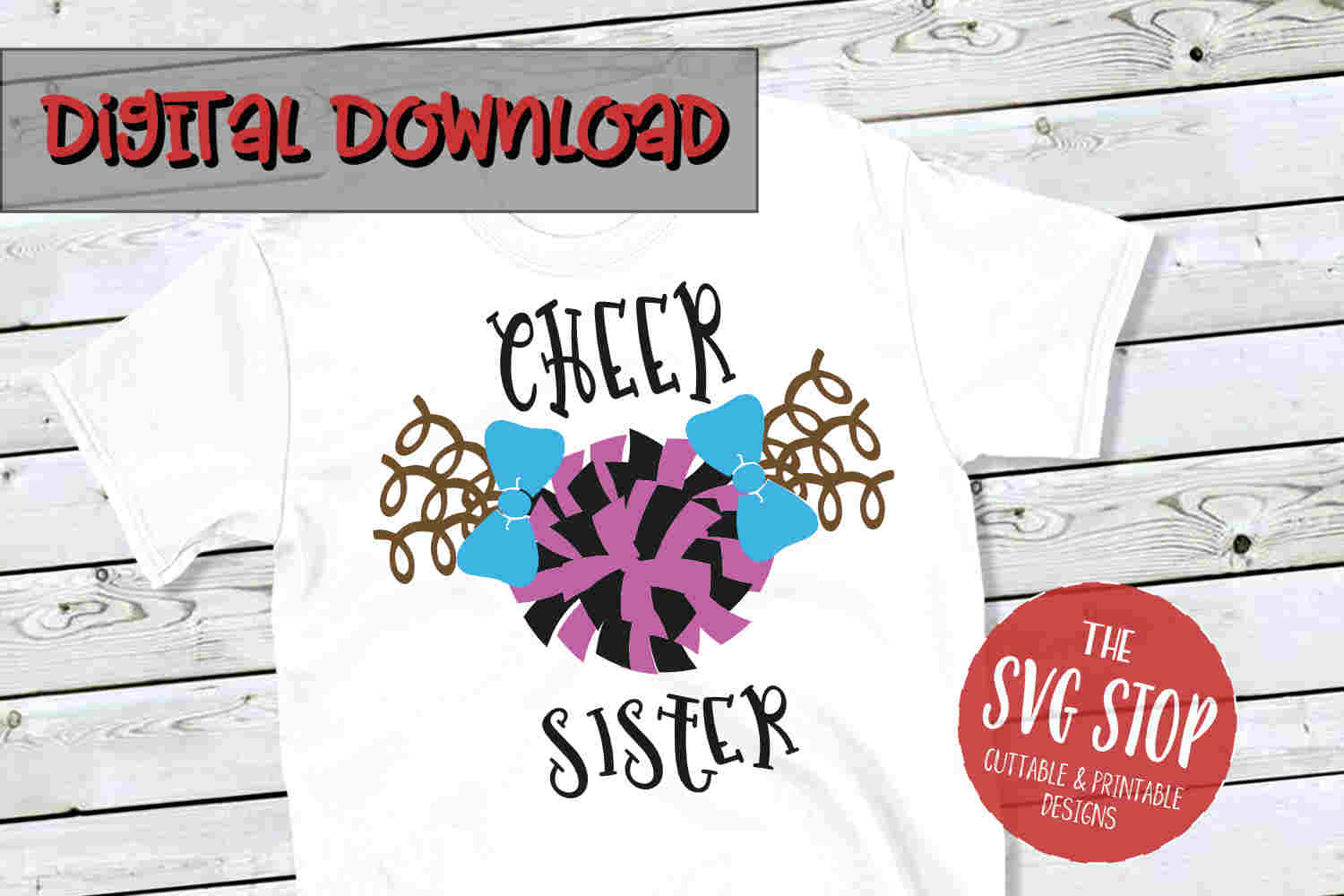 Cheer Sister -SVG, PNG, DXF example image 1