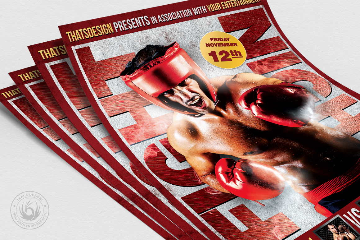 Fight Night Flyer Template V3 example image 5