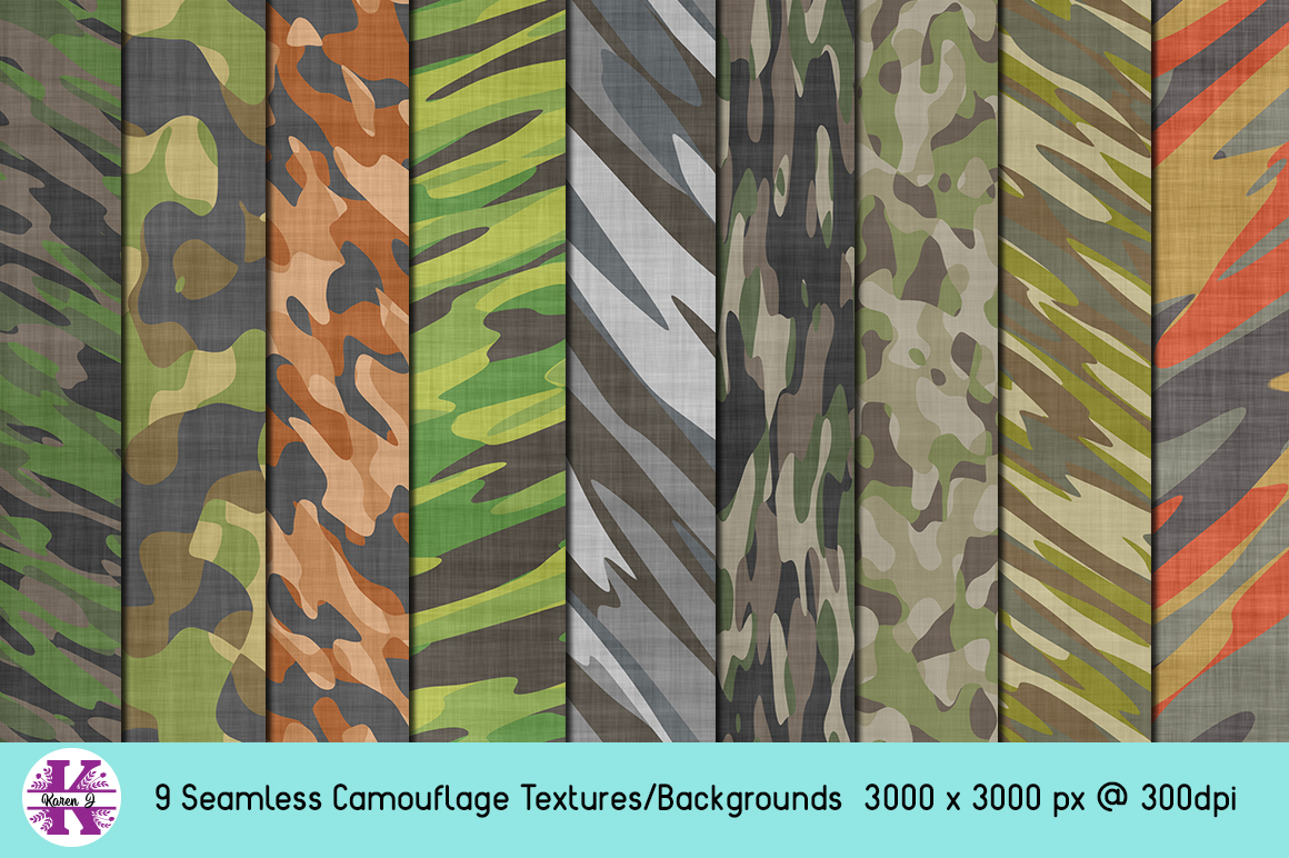 Camouflage Bundle - Backgrounds - Textures example image 1