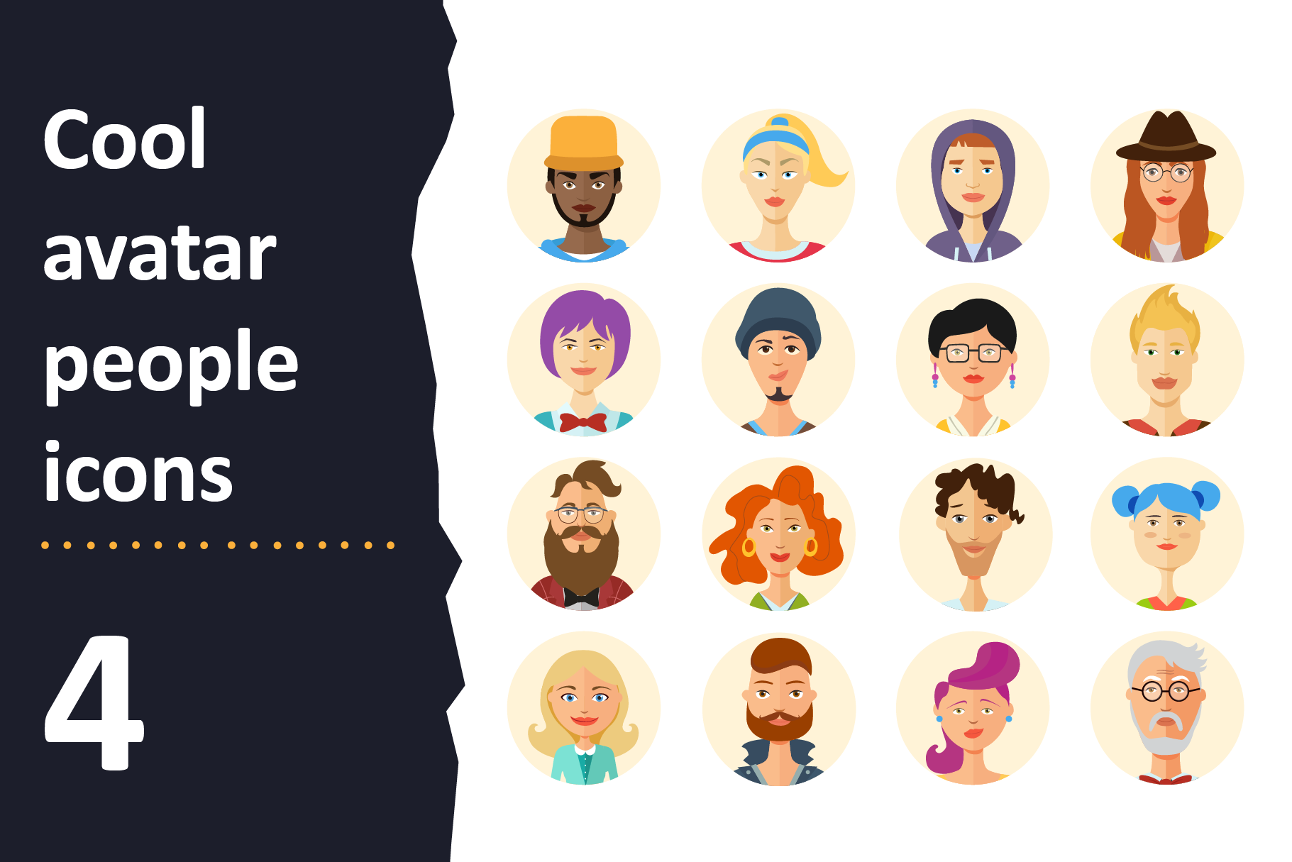 64 Avatar icons vector people collection example image 5