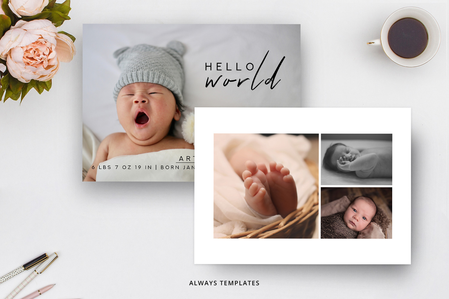 Birth Announcement Template BA008 example image 2