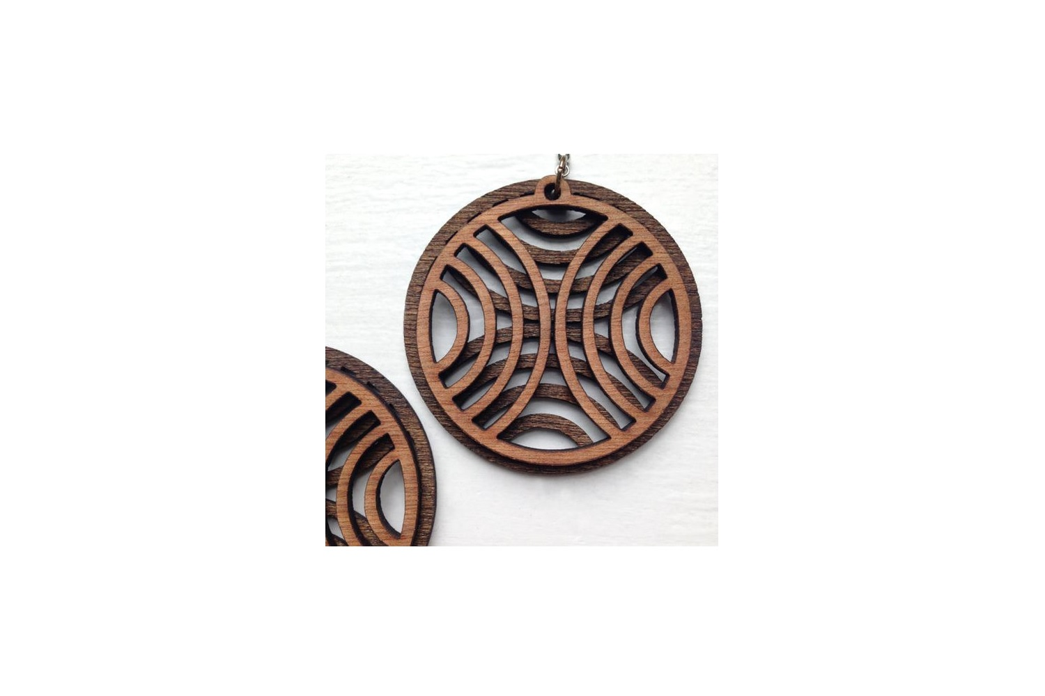 9 Earring Digital Designs | Laser Cutting | Wood & Acrylic example image 5