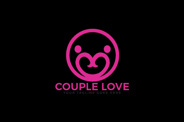 Couple Love Vector Logo Design. example image 2
