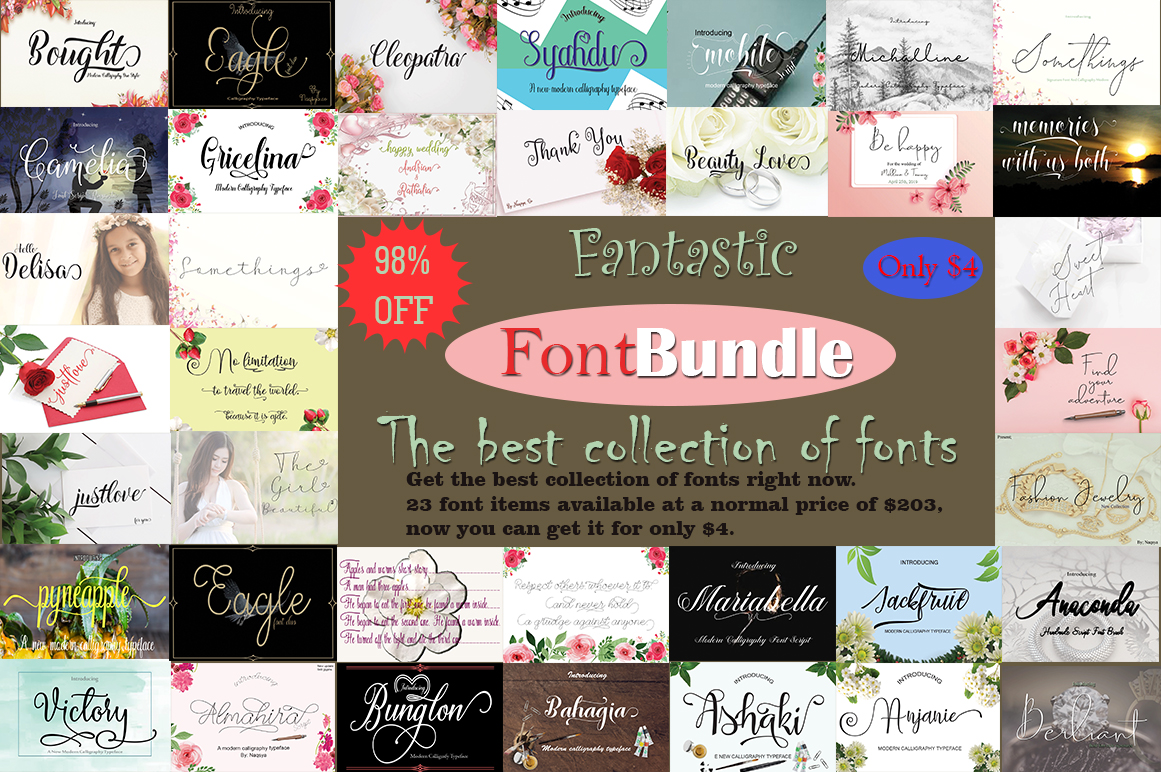 Fantastic FontBundle|the best collection of fonts example image 1