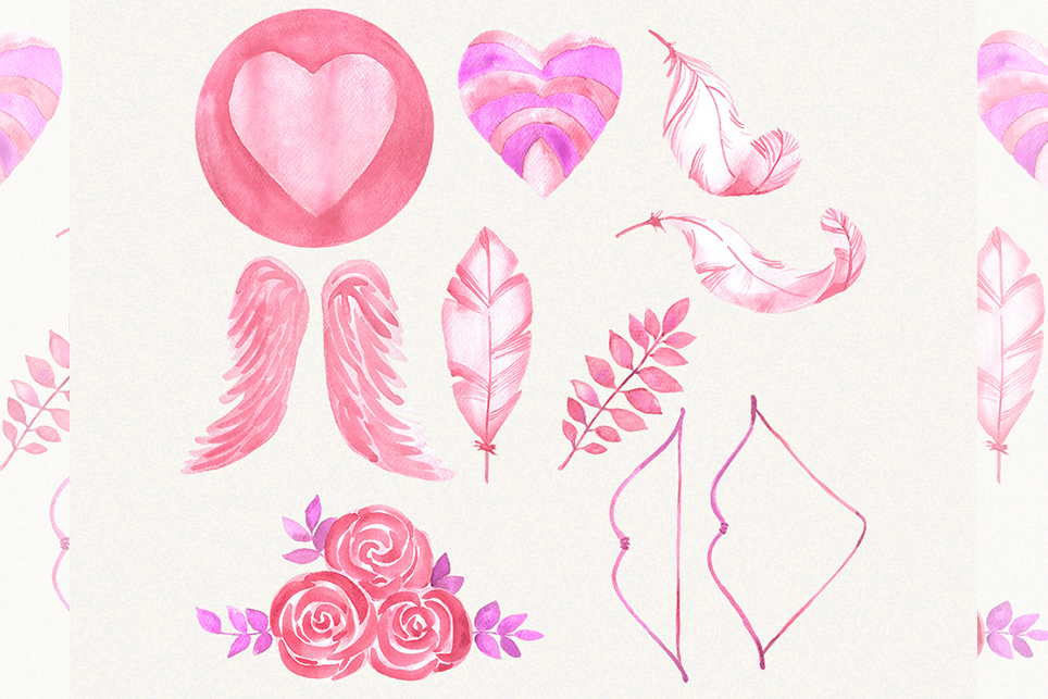 Love clipart, heart clipart, watercolor heart clipart example image 3