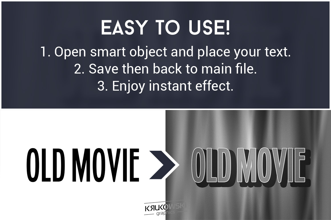Old Movie Title Text Effect Mockup example image 2