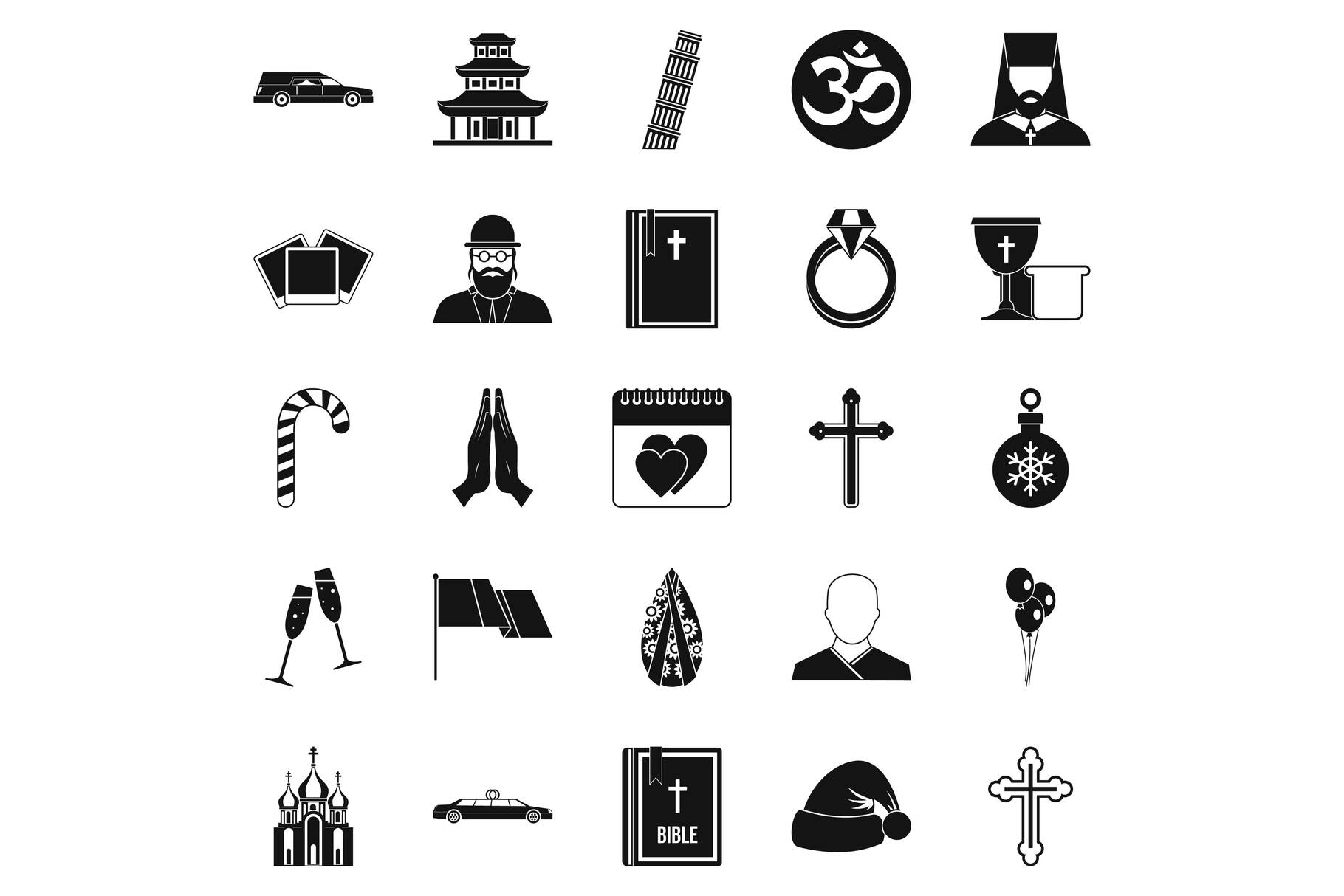 Kirk icons set, simple style example image 1