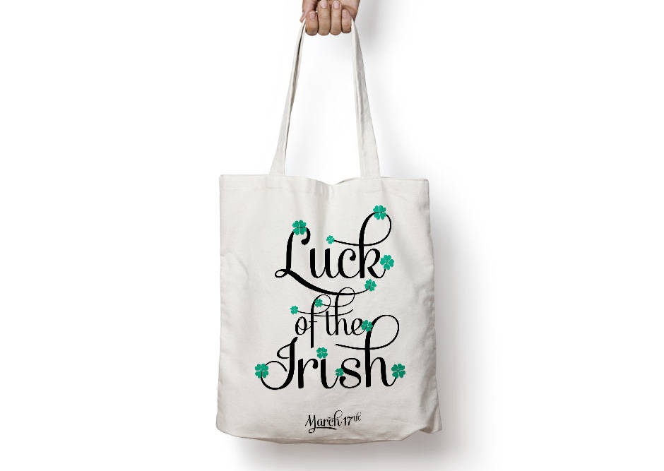 Luck of the Irish Poster to Print Inspirational Quote + SVG files example image 4