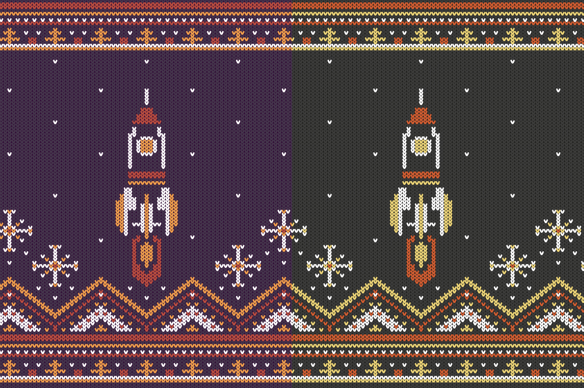 Knitted Jumper Otnament Set example image 9