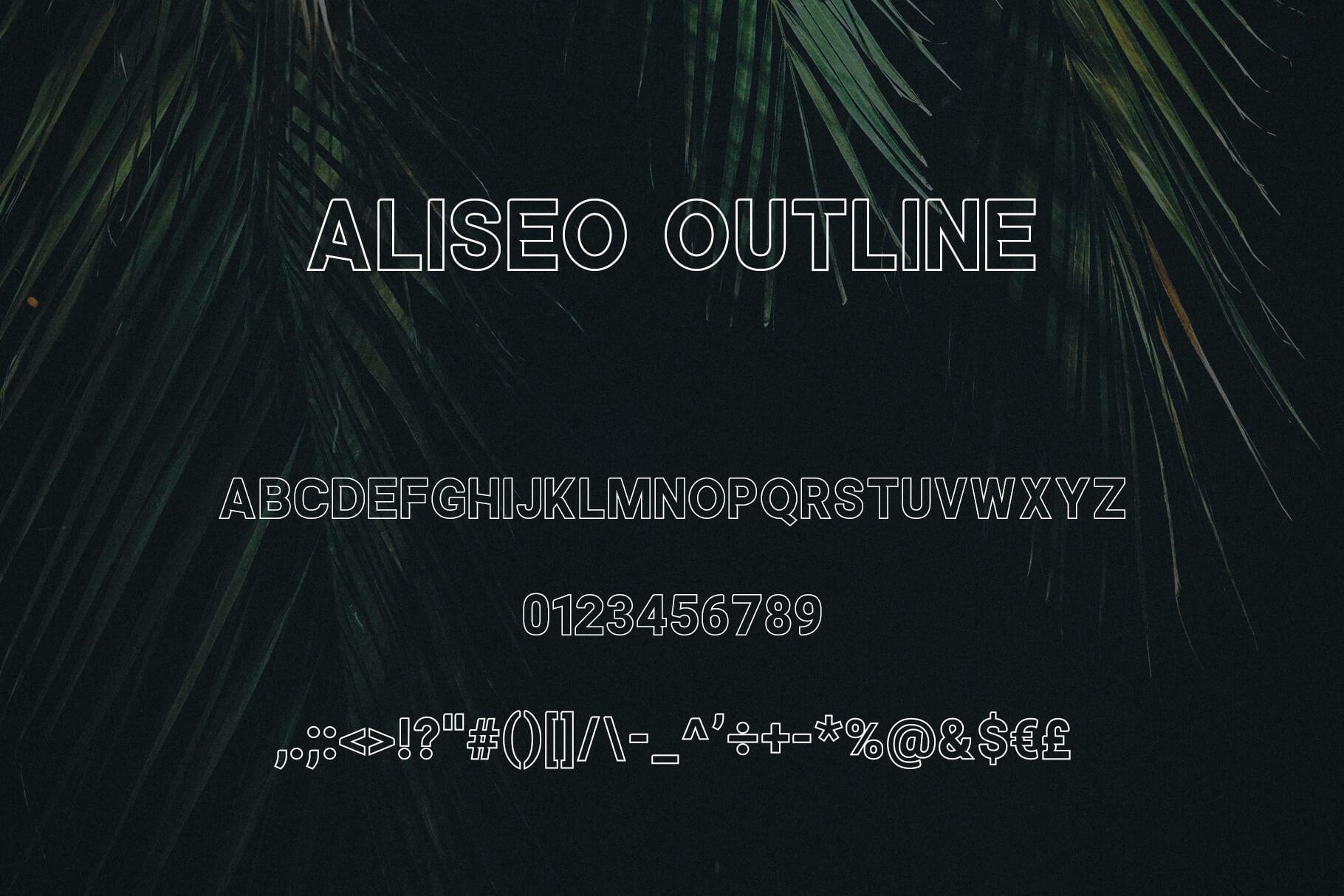 Aliseo Font Family - Sans Serif example image 4