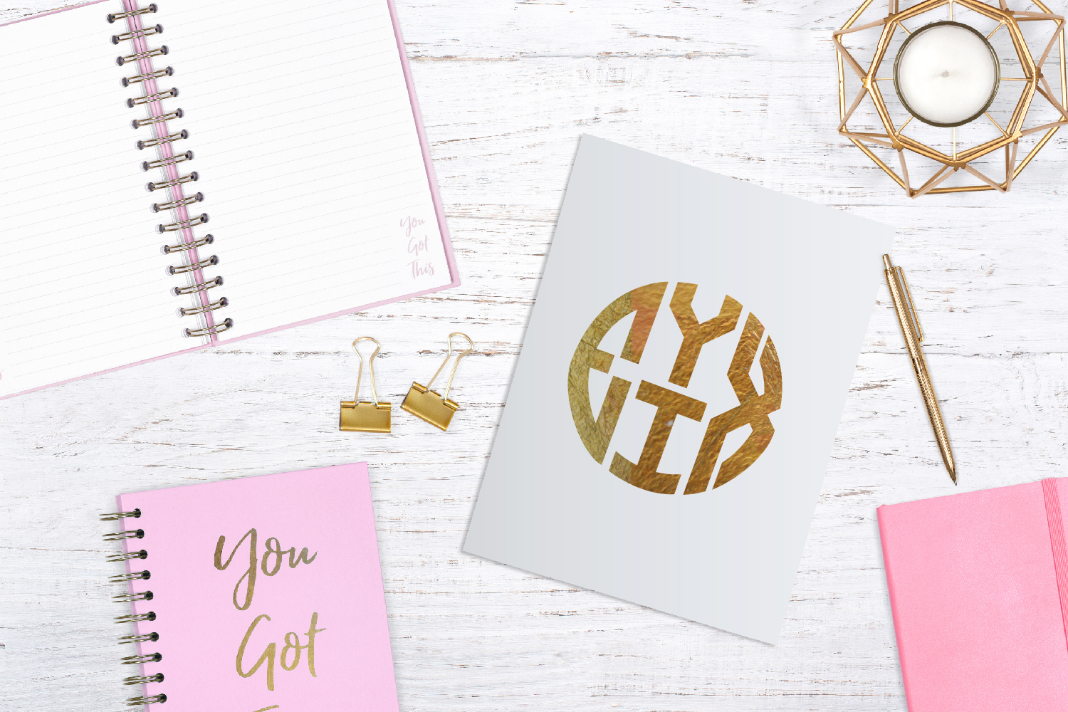 4 Letter Round Monogram Kit example image 4