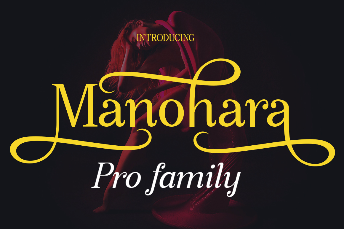 Manohara Pro Family example image 1