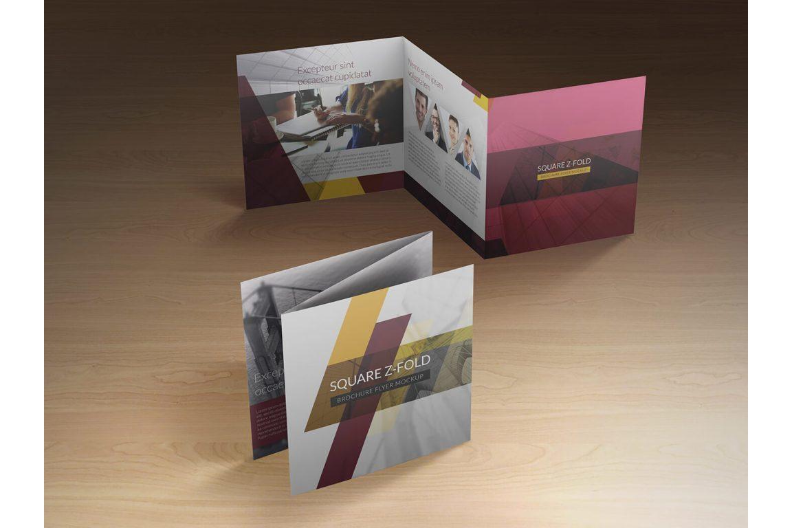 Square Z-Fold Brochure Mockup example image 3