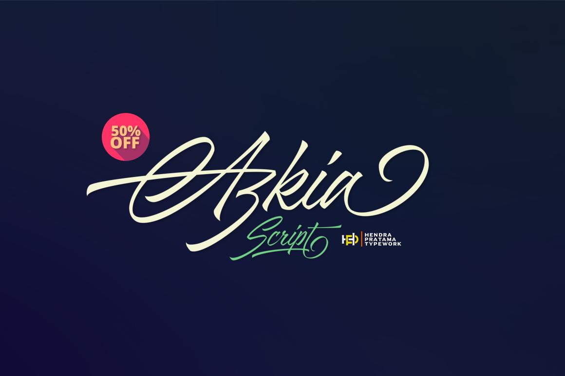 Azkia Script - Intro Sale! example image 2