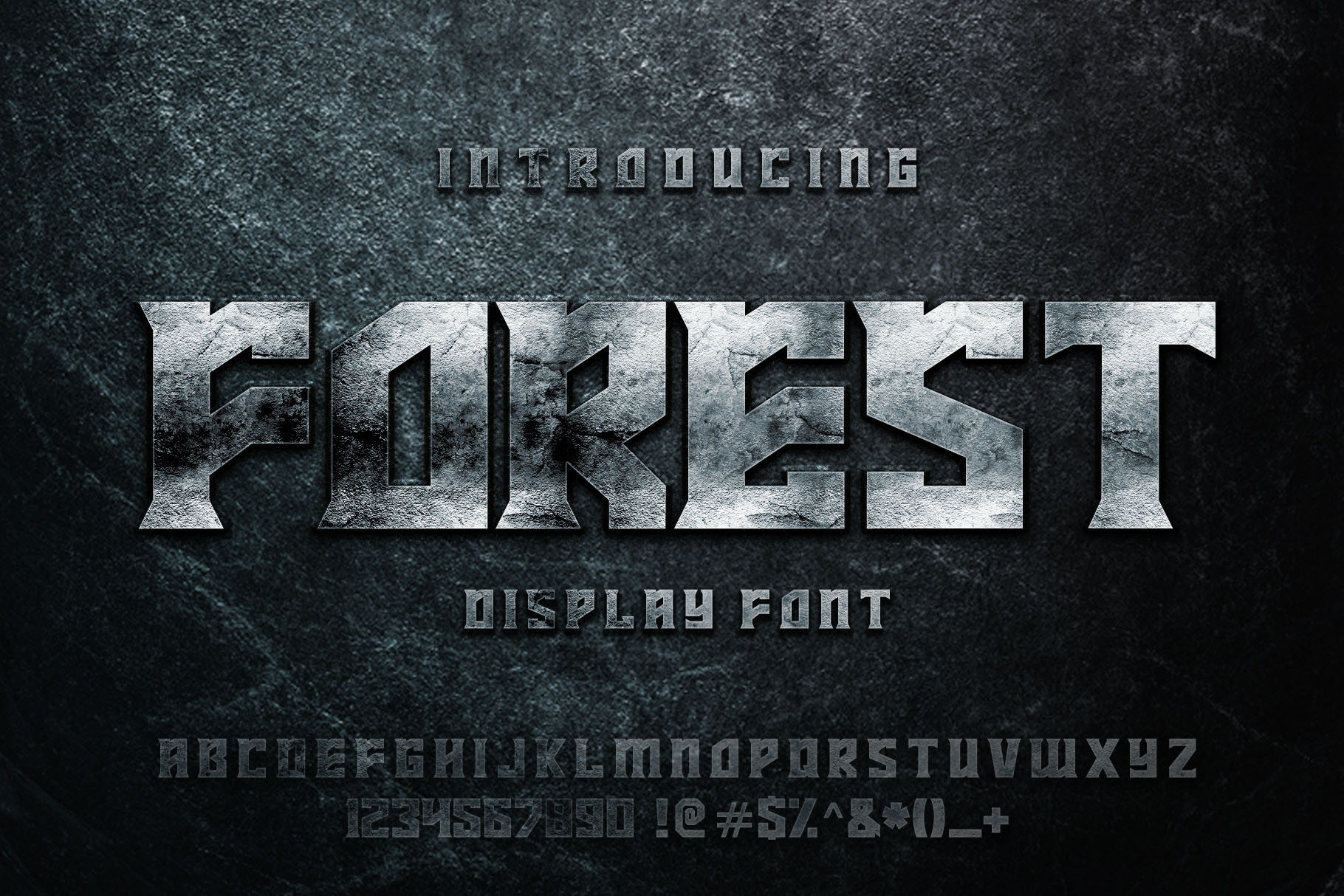 FOREST display font example image 1