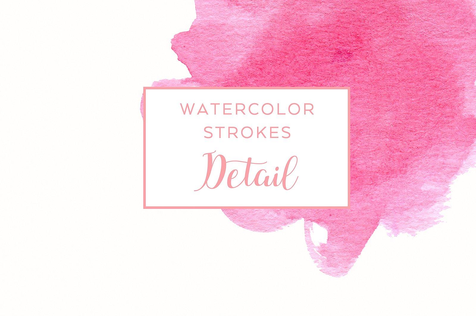 48 Pastel Watercolor Strokes example image 2